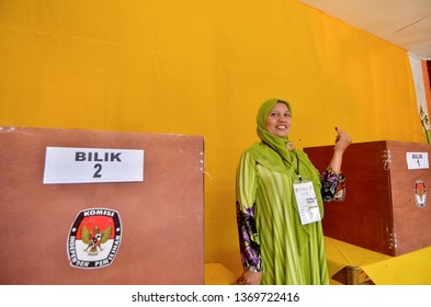 Aceh, Indonesia. February 15, 2017: Acehnese vote through the 2017 Aceh Governor General Election held on February 15, 2017 to elect the Governor of Aceh for the period 2017-2022.