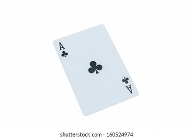 ACE-poker cards on white background