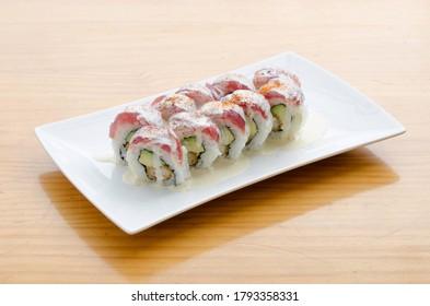 Acevichado Peruvian Maki Sushi Roll