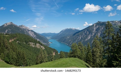 Achensee surrounded with mountains, Austria