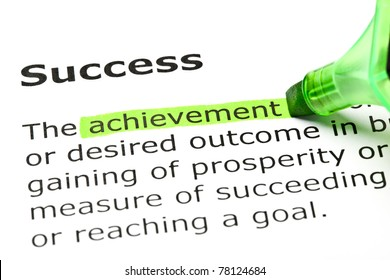 Achievement highlighted in green, under the heading Success.