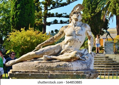 Achilleion, Corfu, Greece - August, 2012: Achilles
