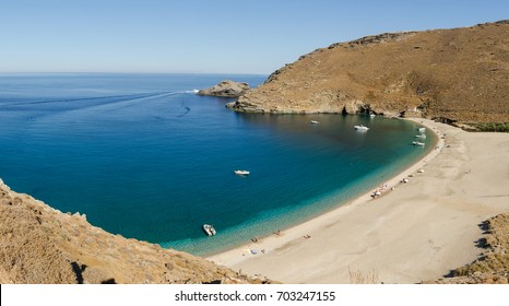 Achla beach in Andros island