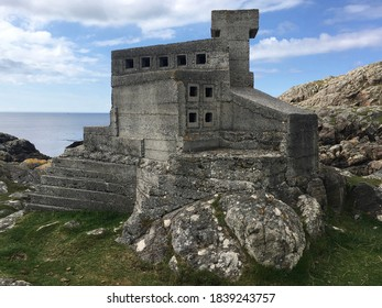 ACHMELVICH, UNITED KINGDOM - AUGUST 19, 2020: Reputedly Europe's smallest castle, known locally as Hermit's Castle. The castle was built in the 1950s by an English architect (David Scott).