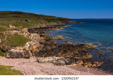 Achnahaird Bay typical landscape on the Coigach Peninsula, Wester Ross, Highlands, Scotland, UK