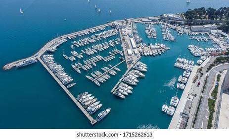 ACI Marina Split, aerial photography taken during the daylight.
