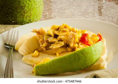 Ackee and Salt Fish Dish