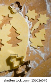 acken of cookies and biscuits for christmas. anticipation of advent.