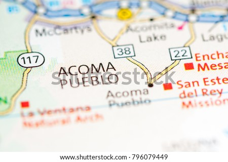 Pueblo New Mexico Map.Acoma Pueblo New Mexico Usa On Stock Photo Edit Now 796079449