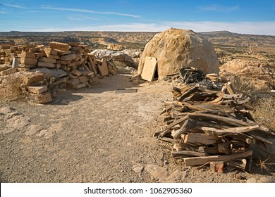 Acoma Pueblo residents of the historic Sky City, still use ancient adobe beehive ovens and firewood for baking, cooking and firing pottery just as their ancestors have done for centuries