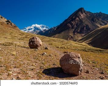 Aconcagua Mountain, Horcones Valley, Aconcagua Provincial Park, Central Andes, Mendoza Province, Argentina