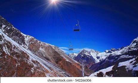 Aconcagua ski resort, Argentina