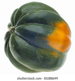 Acorn Squash Isolated on White with a Clipping Path.