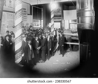 The Acorn Wax Museum, New York, photograph circa 1900s-1920s.