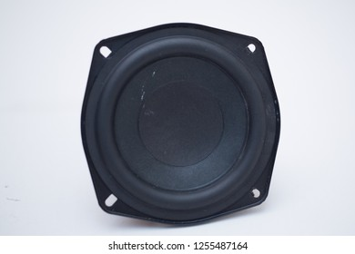 acoustic box speaker on white background