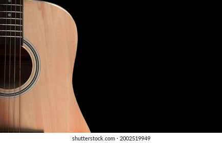 Acoustic guitar chords for playing music with dark background