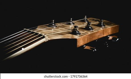 Acoustic Guitar Close Up Photography