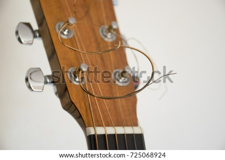 acoustic guitar headstock stock photo edit now 725068924
