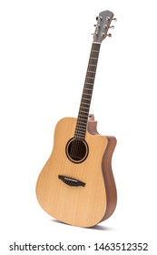 acoustic guitar isolated white background