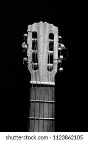 Acoustic Guitar on Black and white