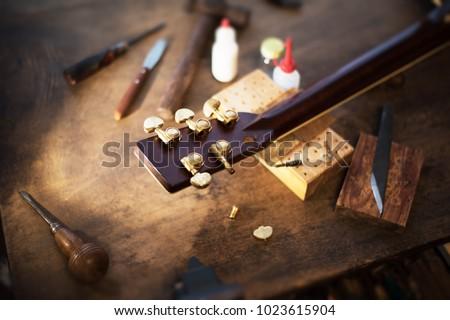 Tuning peg guitar repair