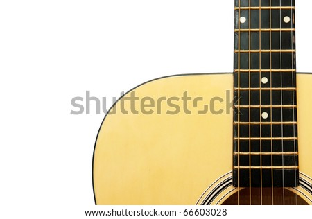 Acoustic Guitar Over White Background Stock Photo Edit Now