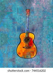 Acoustic Guitar Painting