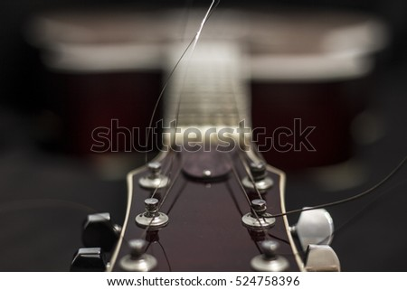 Acoustic Guitar Special Effects Extreme Bokeh Stock Photo Edit Now