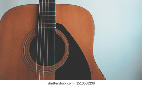Acoustic Guitar String Classical Vintage Backround