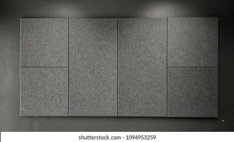 Acoustic panel with medium grey