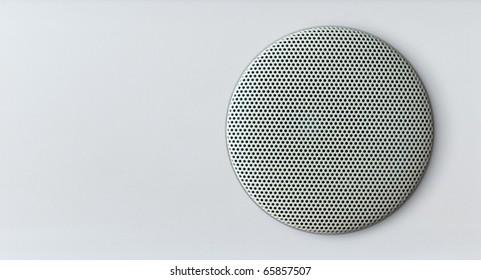 acoustics speaker over white area