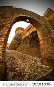 ACQUAVIVA PICENA (Ascoli Piceno, Marche, Italy) Arch and tower of the medieval fortress