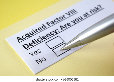 Acquired Factor VIII Deficiency: Are you at risk? Yes or no
