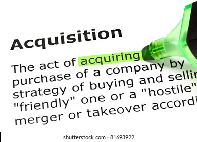 Acquiring highlighted in green, under the heading Acquisition.