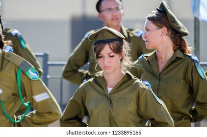 ACRE, ISRAEL - APRIL 12, 2013: Oath ceremony of Recruits of the Israel Defense Forces