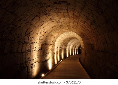 Acre knight templar tunnel, Israel