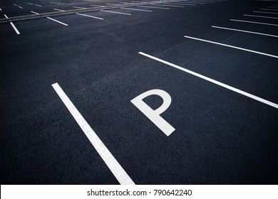 Acres of empty parking spaces.