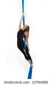 Acrobatic young woman