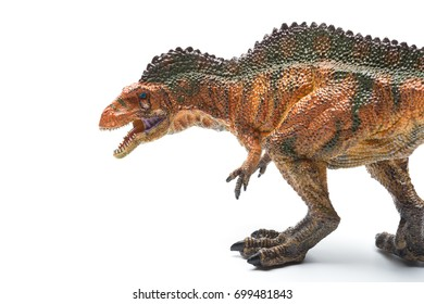 acrocanthosaurus toy on a white background