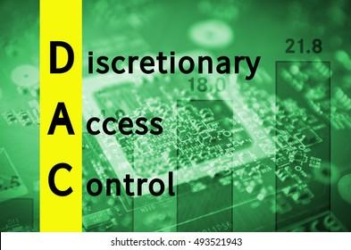 Acronym DAC as Discretionary access control