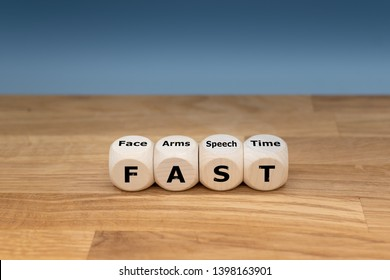 """The acronym """"FAST"""" is used as mnemonic to help a person having a stroke. """"FAST"""" stands for """"facial drooping"""", """"arm weakness"""", """"speech difficulties"""" and """"time to call emergency services""""."""