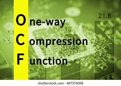Acronym OwCF as One-way compression function