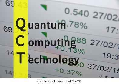 Acronym QCT as Quantum computing technology.