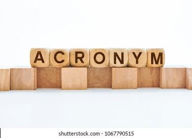 ACRONYM word on block