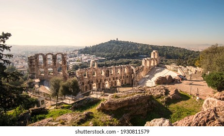 The Acropolis of Athens is an ancient citadel located on a rocky outcrop above the city of Athens