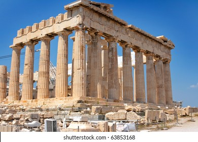 The Acropolis of Athens the best known acropolis in the world.