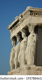 Acropolis Athens Greece with blue sky in autumn
