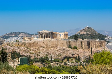Acropolis in a beautiful summer day in Athens, Greece