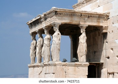 The acropolis: Erectheion, caryatids