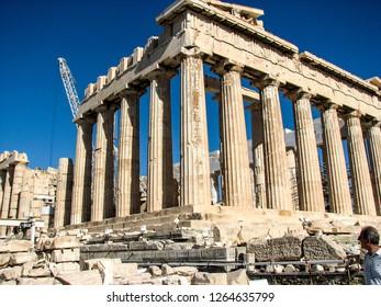Acropolis Hill. Athens historic center. panorama